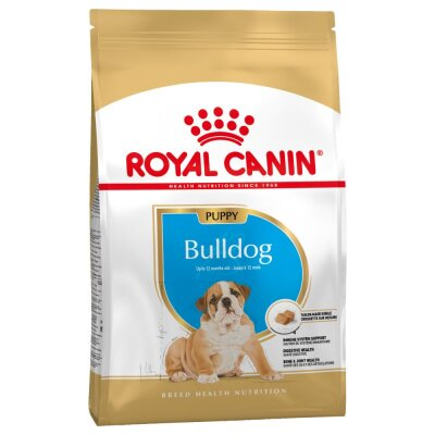 Сухой корм Royal Canin Bulldog Puppy для щенков бульдога, 12кг