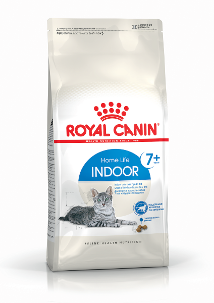 Сухой корм Royal Canin Indoor 7+ для пожилых кошек старше 7 лет, живущих в помещении