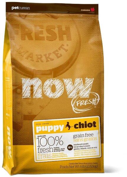 Сухой корм NOW Fresh Puppy для щенков беззерновой с индейкой, уткой и овощами