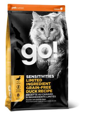 Сухой корм GO! Sensitivity+Shine Grain Free Duck Recipe беззерновой для котят и кошек с чувствительным пищеварением, с уткой
