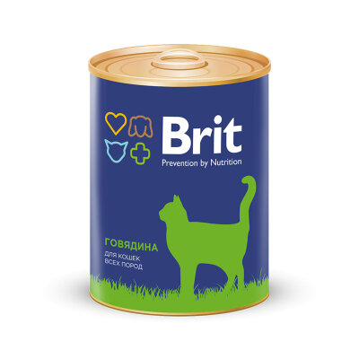 Консервы Brit Premium для взрослых кошек с говядиной, 340г