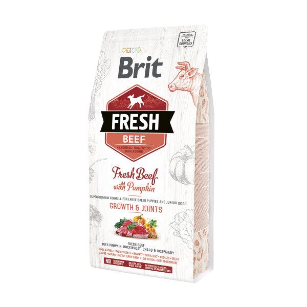 Сухой корм для щенков крупных пород Brit Fresh Beef with Pumpkin с говядиной и тыквой - Мышцы и суставы