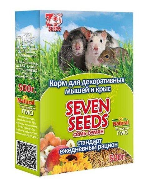 Корм для декоративных мышей и крыс SEVEN SEEDS стандарт, ежедневный рацион, 500г