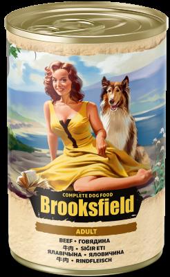 Консервированный корм Brooksfield Adult Dog для собак Говядина с рисом