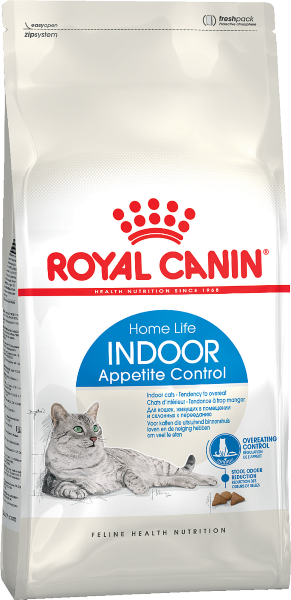 Сухой корм Royal Canin Indoor Appetite Control для кошек, живущих в помещении и склонных к перееданию
