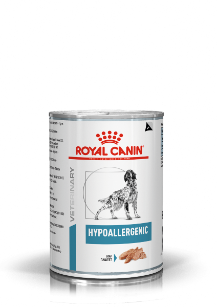 Консервы для собак Royal Canin Hypoallergenic при пищевой аллергии
