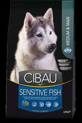 Сухой корм Farmina Cibau Sensitive Medium/Maxi Fish для взрослых собак средних и крупных пород гипоаллергенный