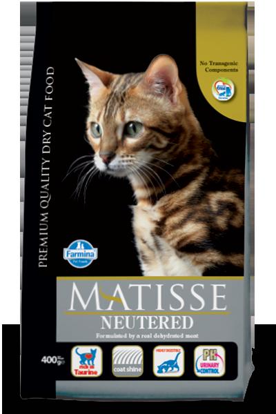 Сухой корм Farmina Matisse Neutered для стерилизованных кошек и кастрированных котов