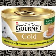 Консервы GOURMET GOLD для кошек, Паштет с кроликом по-французски, 24шт x 85г