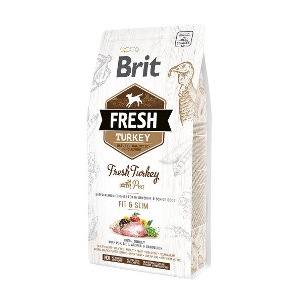 Сухой корм для собак с лишним весом Brit Fresh Turkey with Pea с индейкой и горошком - Стройная форма