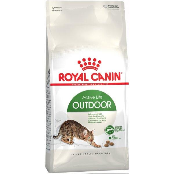 Сухой корм Royal Canin Outdoor 30 для активных кошек, часто бывающих на улице, 400г