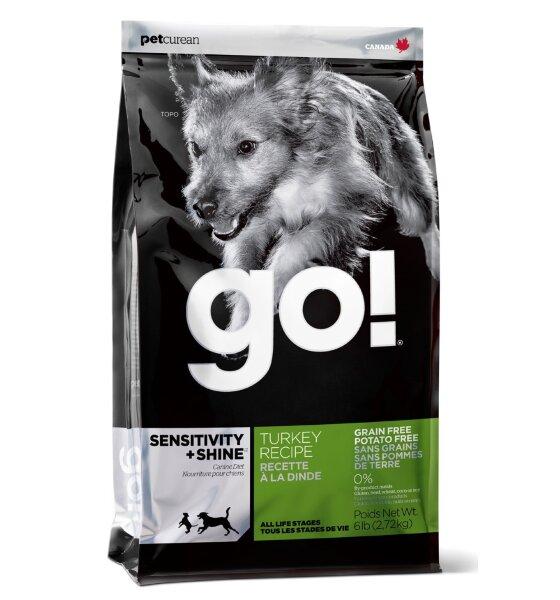 Сухой корм Go! Sensitivity+Shine Turkey Recipe беззерновой для щенков и собак с чувствительным пищеварением с индейкой