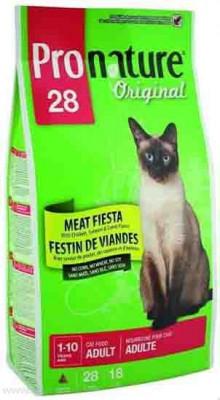 """Сухой корм Pronature Original 28 для кошек """"Мясная Фиеста"""" с цыпленком, лососем и ягненком"""