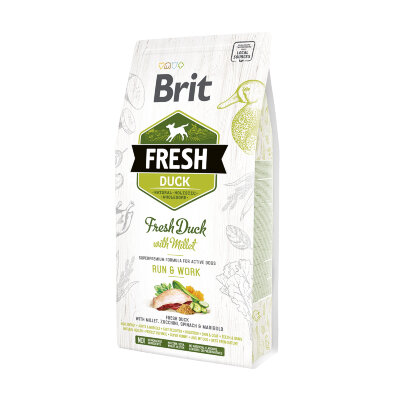 Сухой корм для собак с повышенной активностью Brit Fresh Duck with Millet с уткой и пшеном - Движение и работа