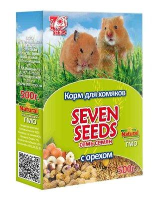 Корм для хомяков SEVEN SEEDS с орехом, 500г