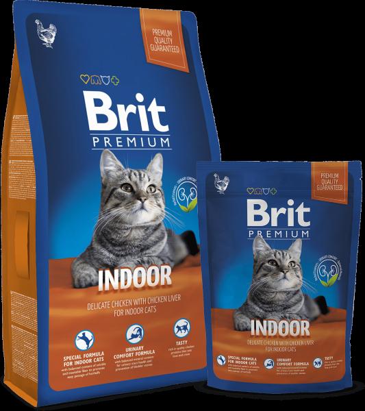 Сухой корм Brit Premium Cat Indoor для домашних кошек