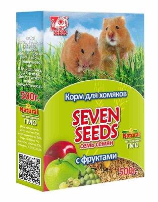 Корм для хомяков SEVEN SEEDS с фруктами, 500г
