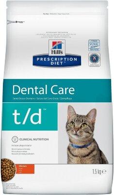 Сухой корм для кошек Hill's Prescription Diet t/d для лечения заболеваний полости рта, 1,5кг