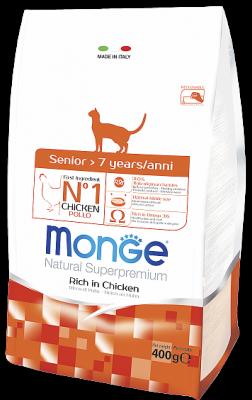 Сухой корм Monge Cat Senior для пожилых кошек, 400г