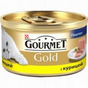 Консервы GOURMET GOLD для кошек, Паштет с курицей, 24шт x 85г