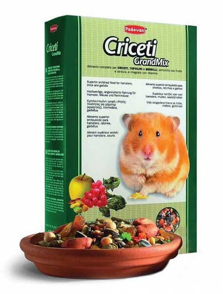 Корм для хомяков и мышей Padovan Grandmix Criceti