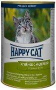 Консервы для кошек Happy Cat кусочки в желе (ягненок с индейкой), 24x400г
