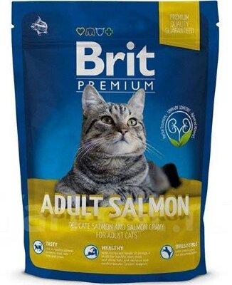 Сухой корм для кошек Brit Premium Cat Adult Salmon с лососем в соусе