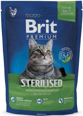 Сухой корм Brit Premium Cat Sterilised для кастрированных котов и стерилизованных кошек