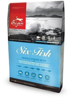 Сухой корм для собак всех пород Orijen Six Fish 85/15 гипоаллергенный беззерновой