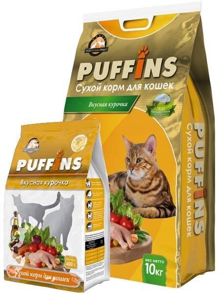 Сухой корм для кошек «PUFFINS» Вкусная курочка