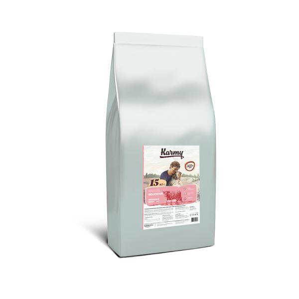 Сухой корм Karmy Delicious Medium and Maxi Телятина для привередливых собак крупных пород