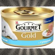 Консервы GOURMET GOLD для кошек, Тунец, 24шт x 85г