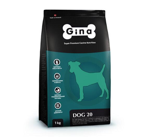 Сухой корм Gina Denmark Dog-20 полнорационный для собак старше 7 лет