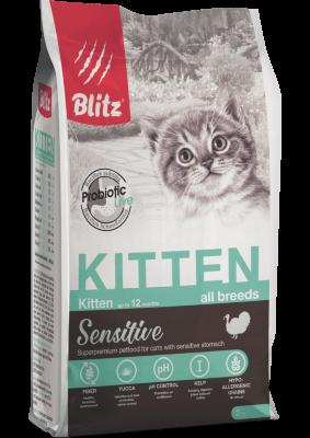 Сухой корм Blitz для котят, беременных и кормящих кошек