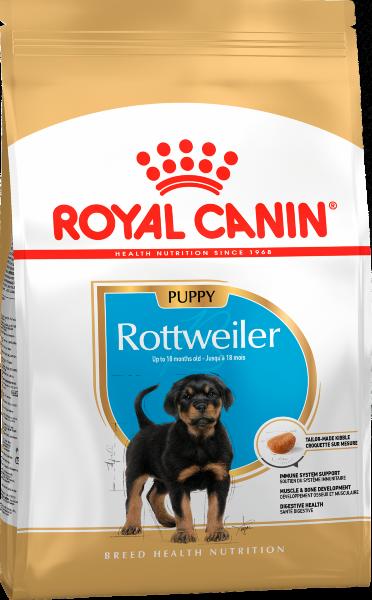 Сухой корм Royal Canin Rottweiler Puppy для щенков Ротвейлера, 12кг