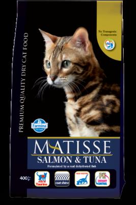 Сухой корм Farmina Matisse Salmon & Tuna для взрослых кошек с лососем и тунцом