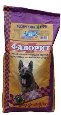Сухой корм для собак Фаворит Актив Плюс с повышенным содержанием протеина и жира, 13кг