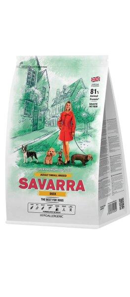 Сухой корм Savarra Adult Small Breed для собак мелких пород с уткой и рисом