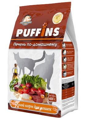 Сухой корм для кошек «PUFFINS» Печень по-домашнему