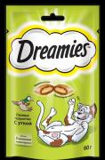 Лакомство Dreamies для кошек подушечки с уткой, 6шт x 60г