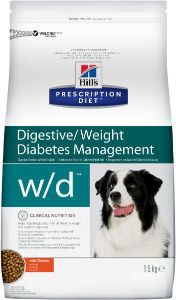 Сухой корм Hill's Prescription Diet w/d с курицей для лечения сахарного диабета у собак