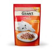 Паучи Gourmet Mon Petit для кошек с лососем, 30шт x 50г