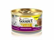 Консервы GOURMET GOLD Нежные биточки для кошек, Ягненок и фасоль, 12шт x 85г