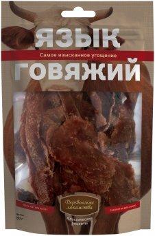 Язык говяжий Деревенские лакомства Классические рецепты, для собак, 50г