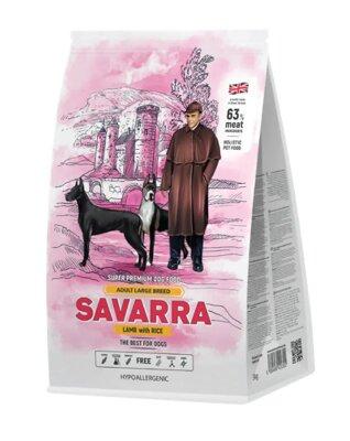Сухой корм Savarra Adult Large Breed для собак крупных пород с ягненком и рисом