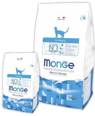Сухой корм Monge Cat Urinary для профилактики МКБ у кошек