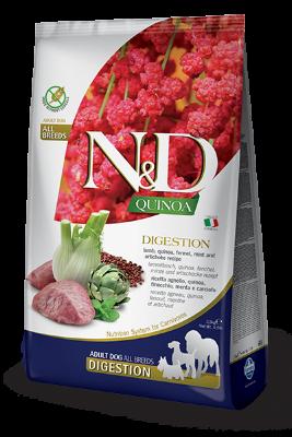 Сухой корм Farmina N&D Cat Quinoa Digestion Lamb беззерновой для взрослых кошек с ягненком, киноа, фенхелем и мятой