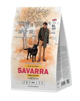 Сухой корм Savarra Adult All Breeds Turkey для собак всех пород с индейкой и рисом