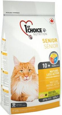 Сухой корм 1st Choice Senior Mature or Less Active для стареющих и малоактивных кошек