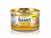 Консервы GOURMET GOLD Нежные биточки для кошек, Курица и морковь, 12шт x 85г